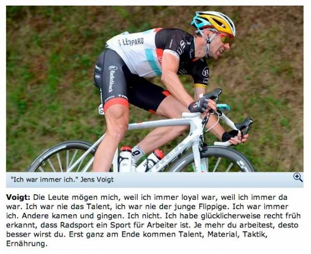 Interview mit Jens Voigt auf Sportschau.de vom