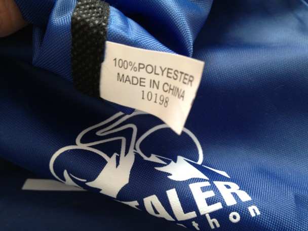 Ötztaler Radmarathon: 100 % Polyester, Made in China.