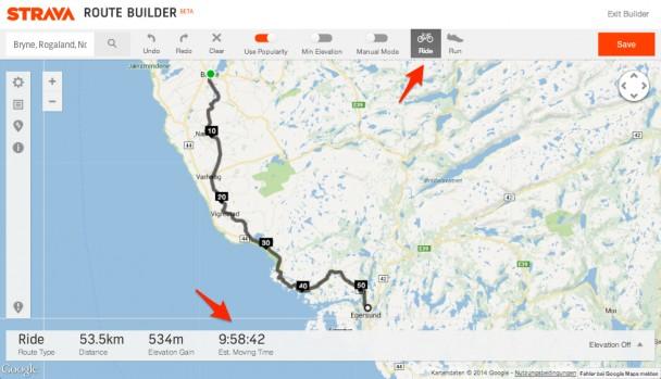 Laut strava brauch ich für 50 km knapp 10 Stunden. Mit dem Bike.